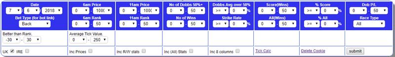 Dob Software options